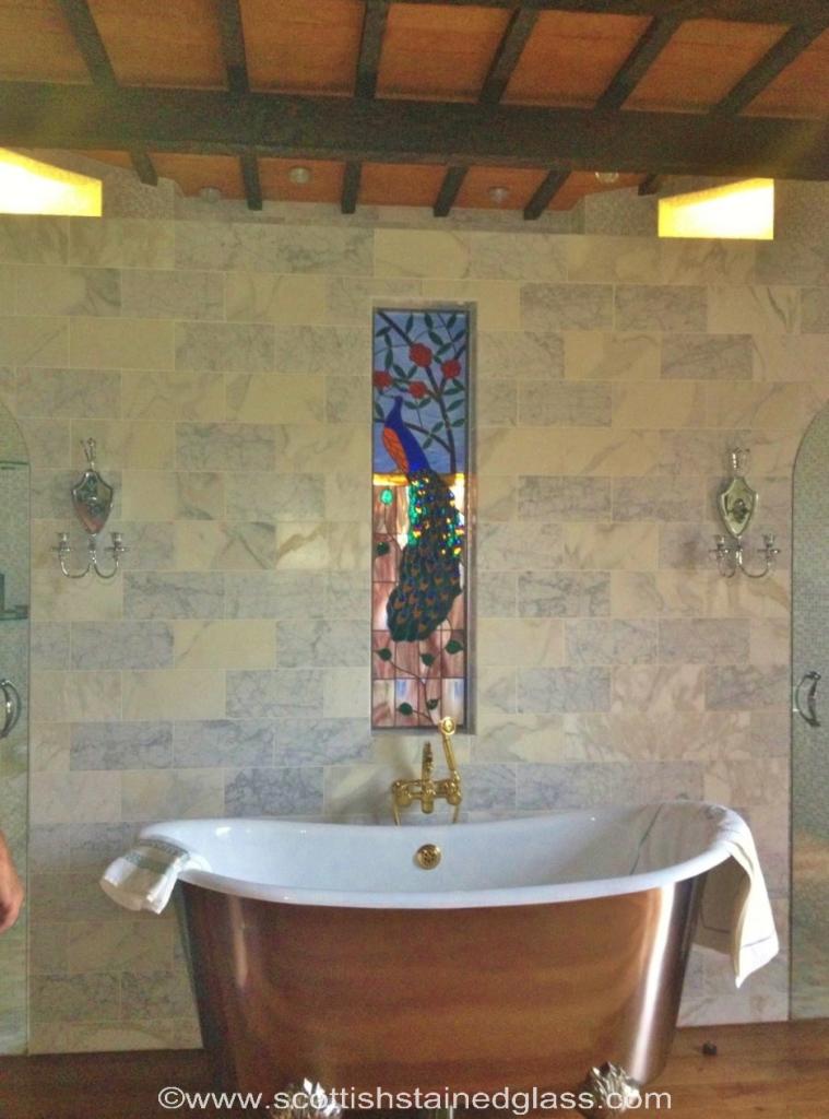 Colorado Springs Stained Gl Bathroom