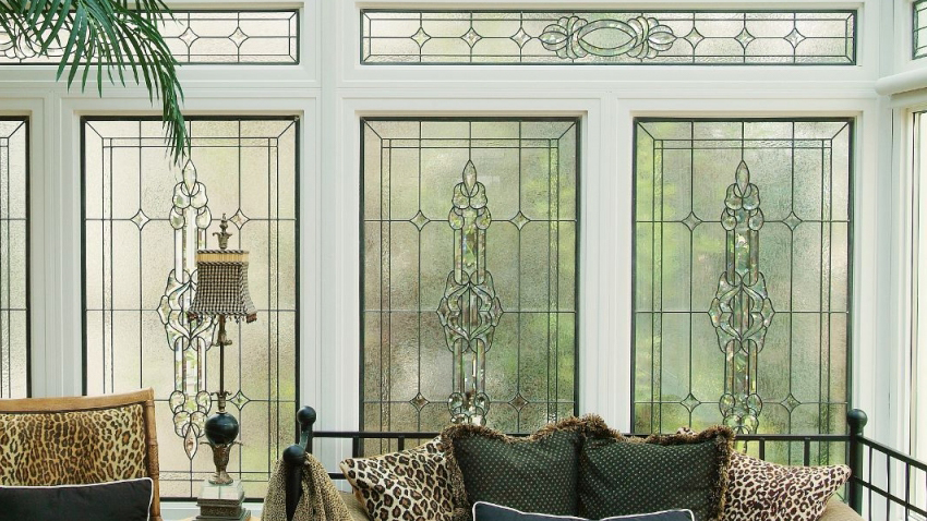 Colorado Springs Transom Stained Glass Residential